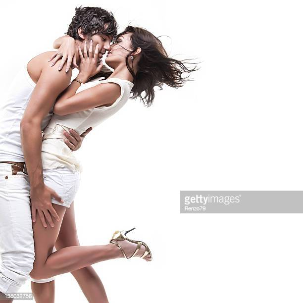 Passionate couple (white dress shoot)