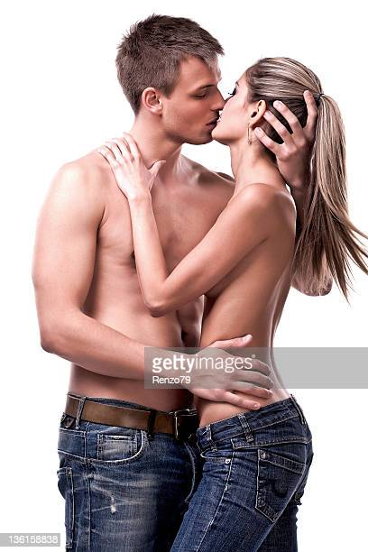 Hot kiss of couple
