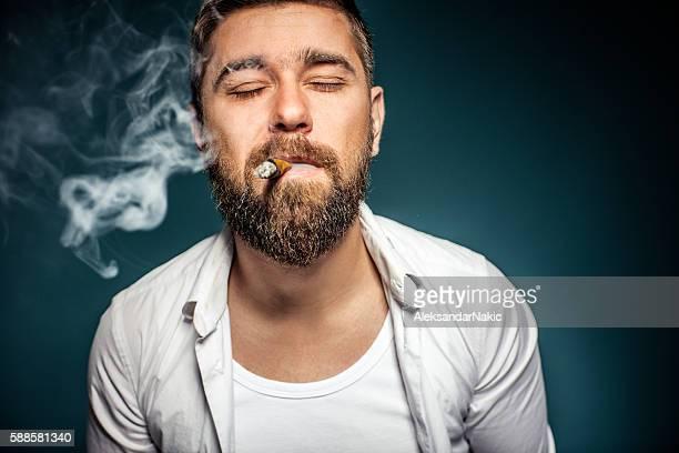 Passionate smoker