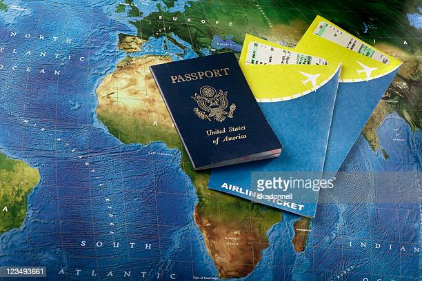 passport and airline tickets