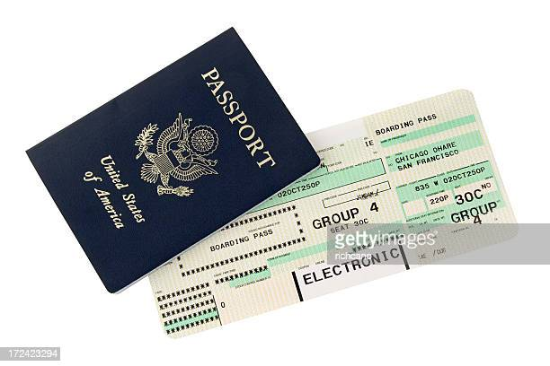 Passport and boarding pass design