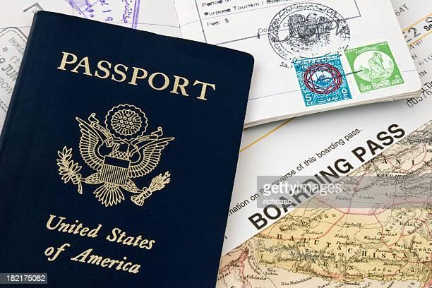 パスポートおよびボーディングパス