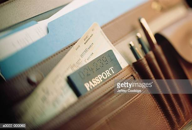 Passport and Ticket in Case