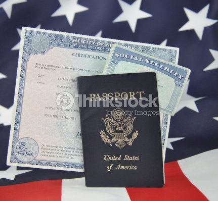 Passport Birth Certificate Social Security Card Stock Photo | Thinkstock