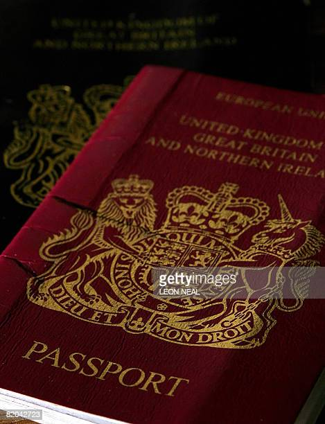 A passport for a citizen of the United Kingdom of Great Britain and Northern Ireland is pictured in London on July 23 2008 Members of the Public and...