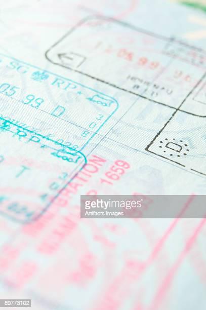 US Passport inside page