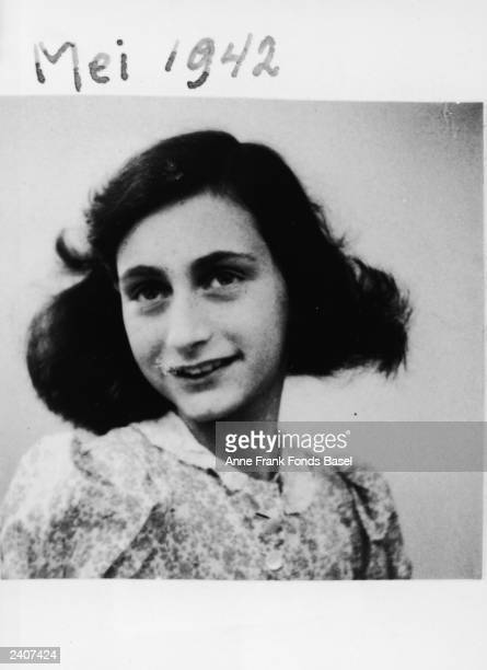 Passport photo of German diarist and Holocaust victim Anne Frank May 1942