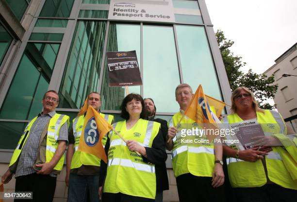 Passport staff strike outside the Identity and Passport service office in London Victoria A threeday strike has started today that could hit...
