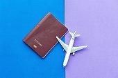 Passport travel concept