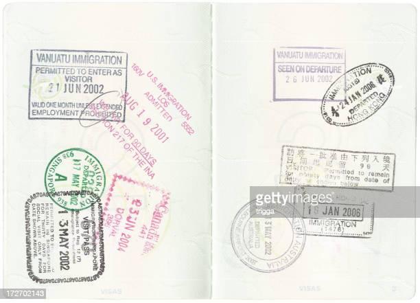 パスポートにスタンプ