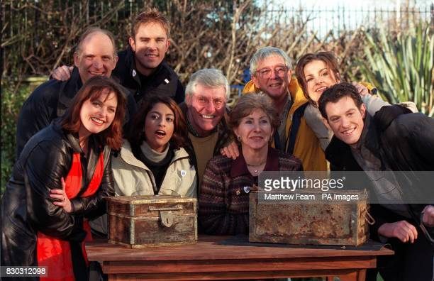Past and present Blue Peter presenters Simon Groom Simon Thomas Janet Ellis Konnie Huq Peter Purves Val Singleton John Noakes Katy Hill and Matt...