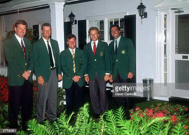 Past European winners of the Masters Nick Faldo of England Sandy Lyle of Scotland Ian Woosnam of Wales Bernhard Langer of Germany and Seve...