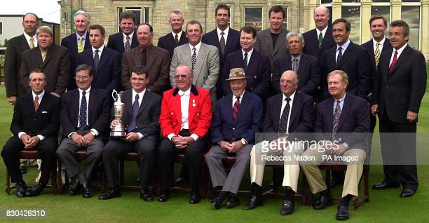 Past winners of the Open Championship gather in front of the clubhouse at St Andrews * Tom Lehman Bob Charles Nick Price Sandy Lyle Ian BakerFinch...