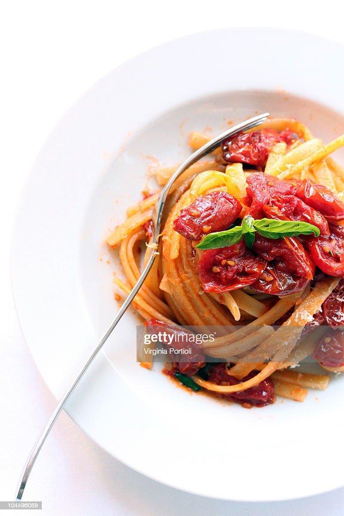 pasta al pomodoro - tomato pasta : Stock Photo