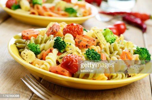 Pasta fusilli salad : Stock Photo