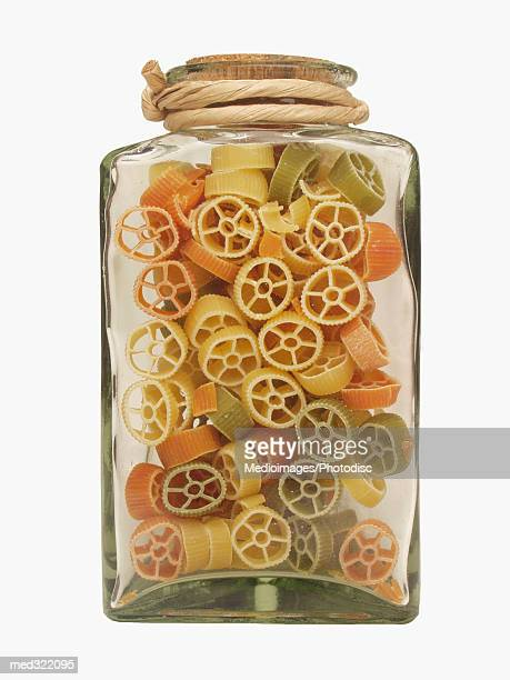 Pasta in a glass jar