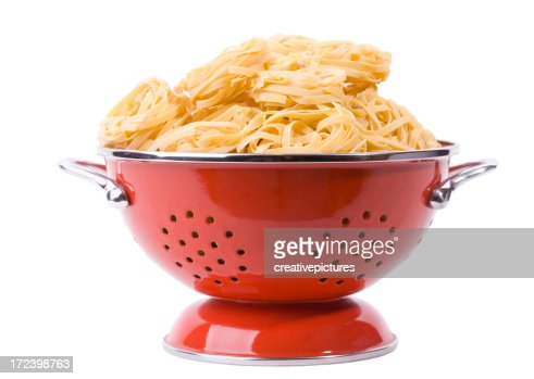 Pasta in colander