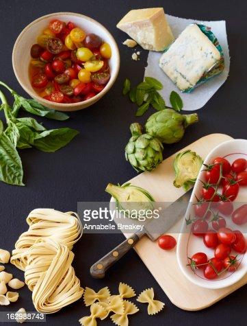 Pasta Ingredients Spread : Stock Photo