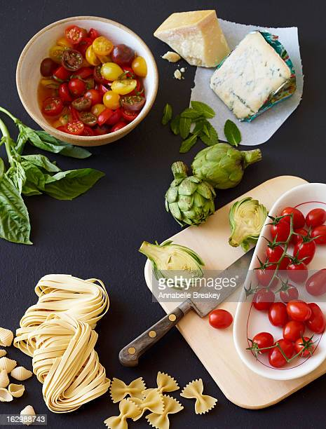 Pasta Ingredients Spread