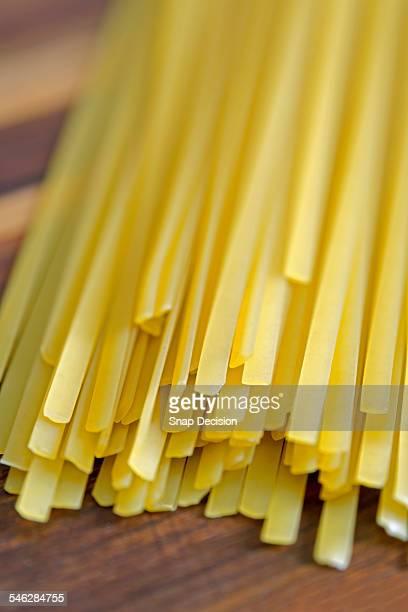 Pasta on cutting board