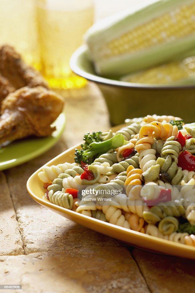 Pasta salad : Stock Photo