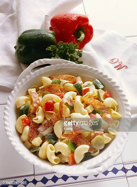 Pasta Salad with Salami and Bell Pepper