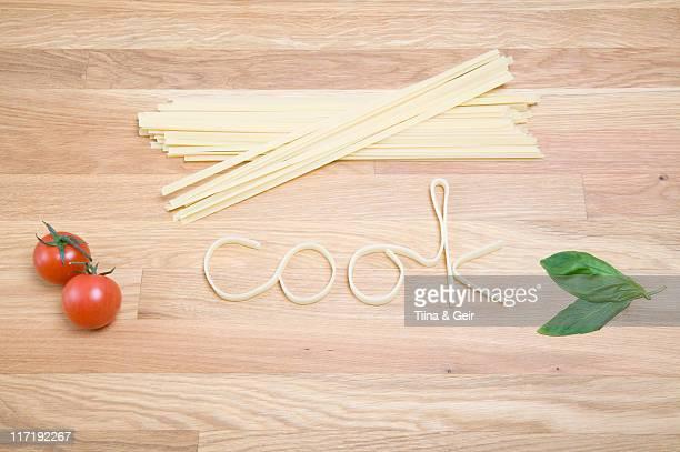 Pasta ortografia fuori la parola cook