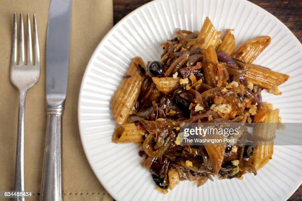 WASHINGTON DC Pasta With QuickCaramelized Onions photographed in Washington DC