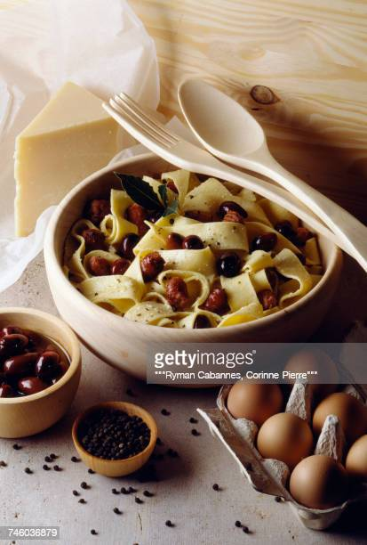 pasta with sausage and olives