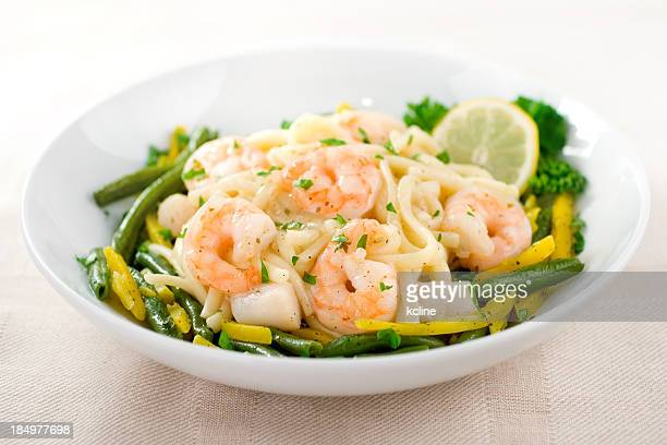 Pasta with Shrimp and Scallops