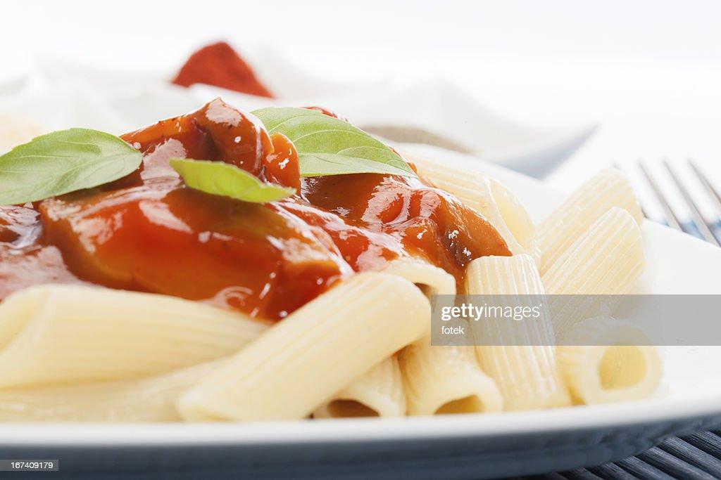 トマトソースのパスタ : ストックフォト