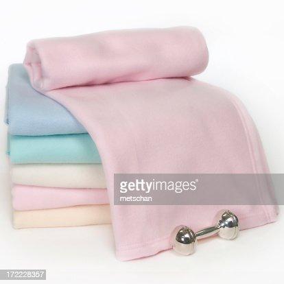 パステルカラーのベビー毛布