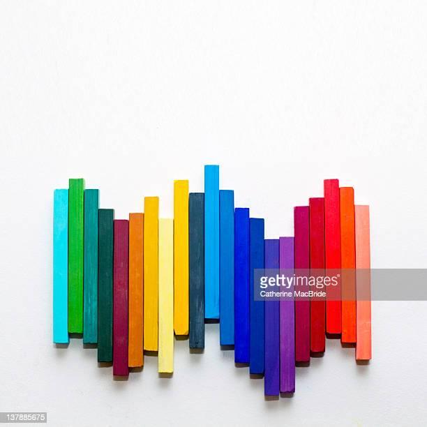 Pastel chalk arrangement
