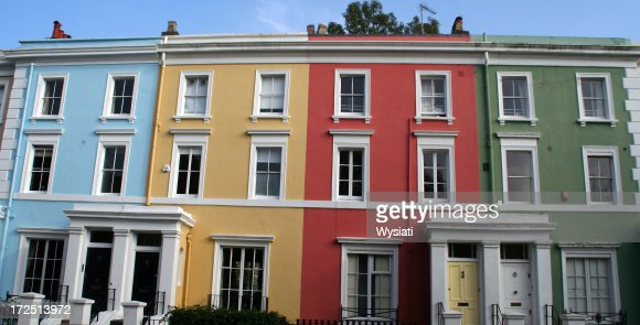 pastel coloured houses