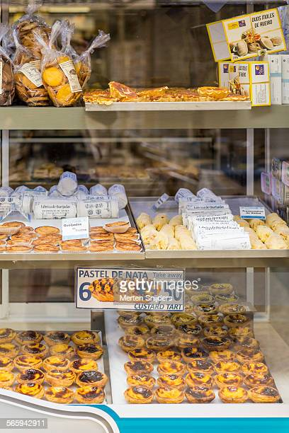 Pastel de Nata in bakery window
