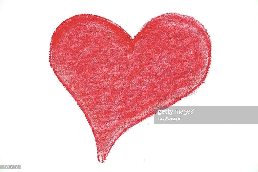 Coração Desenho Pastel : Foto de stock