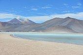 Laguna Miscanti in the Reserva Nacional de los Flamengos, Atacama, Antofagasta, Chile.