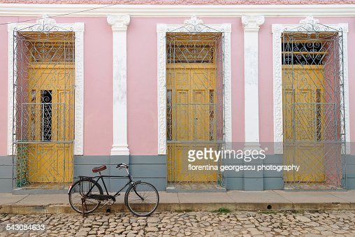 Pastel-colored house in Trinidad