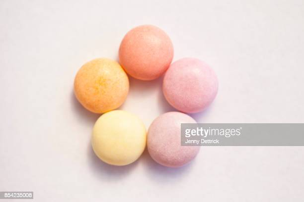 Pastel-coloured sweets