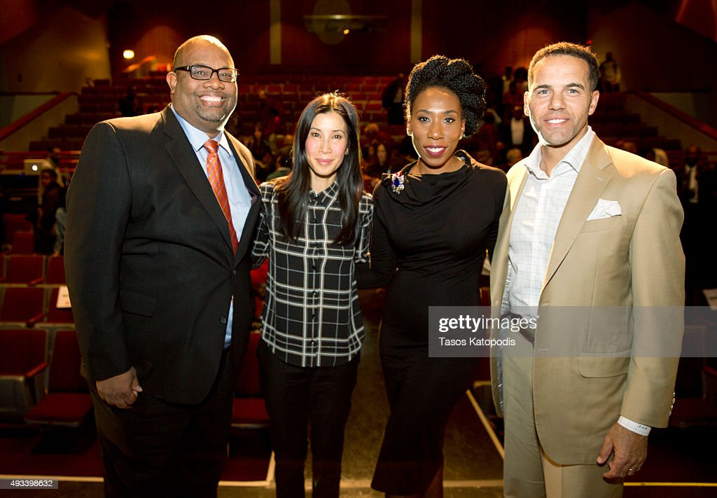 Pastor Corey Brooks Lisa Ling Brandi Harvey and Steve Pemberton attend the CNN and the Steve and Marjorie Harvey Foundation host 'This is Life with...