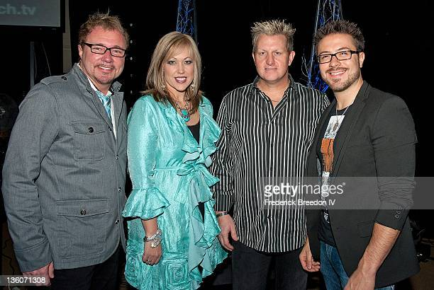 Pastor Danny Chambers Pastor Jillian Chambers Gary LeVox and Danny Gokey pose after a performance at Oasis Church for the 'Light' Christmas Event on...