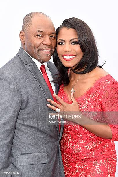 Pastor Dr John Allen Newman and Omarosa Manigault attend The Hollywood Reporter's Annual Women in Entertainment Breakfast in Los Angeles at Milk...