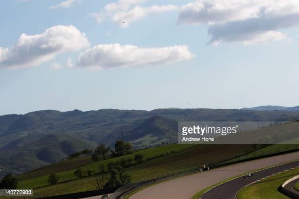 Pastor Maldonado of Venezuala and Williams on track during Formula One Testing at the Mugello Circuit on May 3 2012 in Mugello Italy