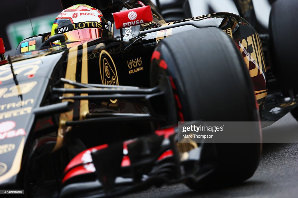 <a gi-track='captionPersonalityLinkClicked' href=/galleries/search?phrase=Pastor+Maldonado&family=editorial&specificpeople=4842574 ng-click='$event.stopPropagation()'>Pastor Maldonado</a> of Venezuela and Lotus drives during qualifying for the Monaco Formula One Grand Prix at Circuit de Monaco on May 23, 2015 in Monte-Carlo, Monaco.