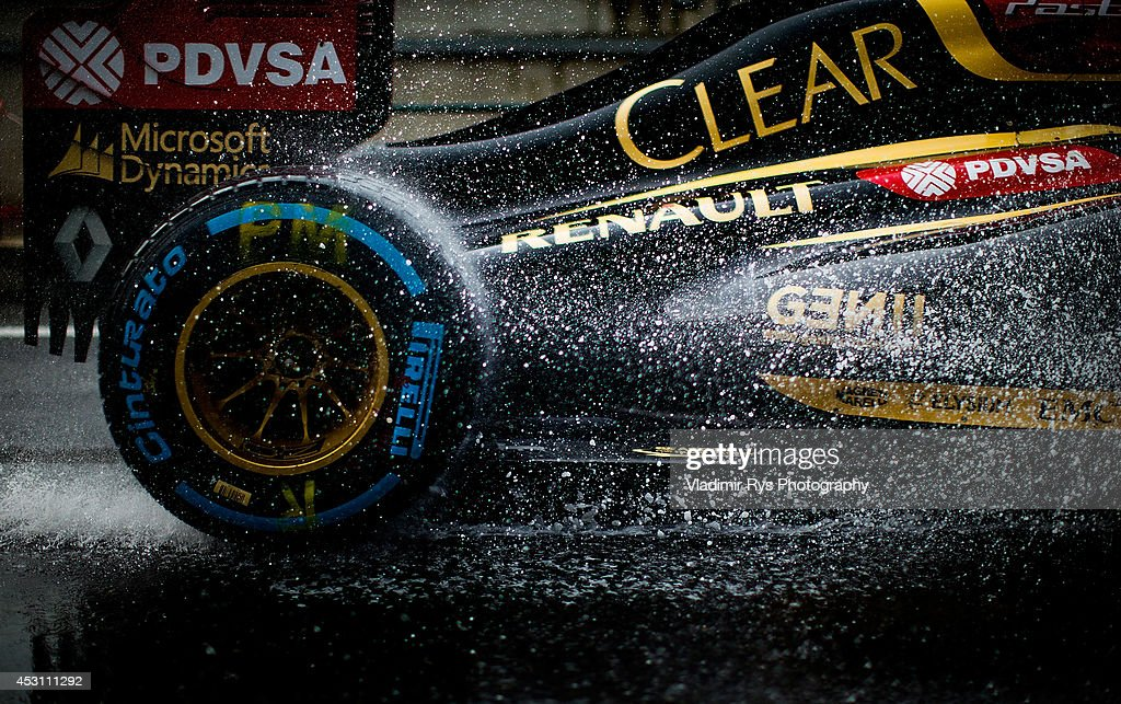 Pastor Maldonado of Venezuela and Lotus drives during the Hungarian Formula One Grand Prix at Hungaroring on July 27, 2014 in Budapest, Hungary.