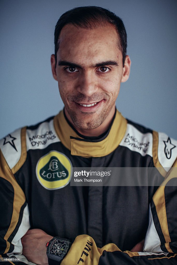 <a gi-track='captionPersonalityLinkClicked' href=/galleries/search?phrase=Pastor+Maldonado&family=editorial&specificpeople=4842574 ng-click='$event.stopPropagation()'>Pastor Maldonado</a> of Venezuela and Lotus poses for a portrait during day three of Formula One Winter Testing at Circuit de Catalunya on February 21, 2015 in Montmelo, Spain.