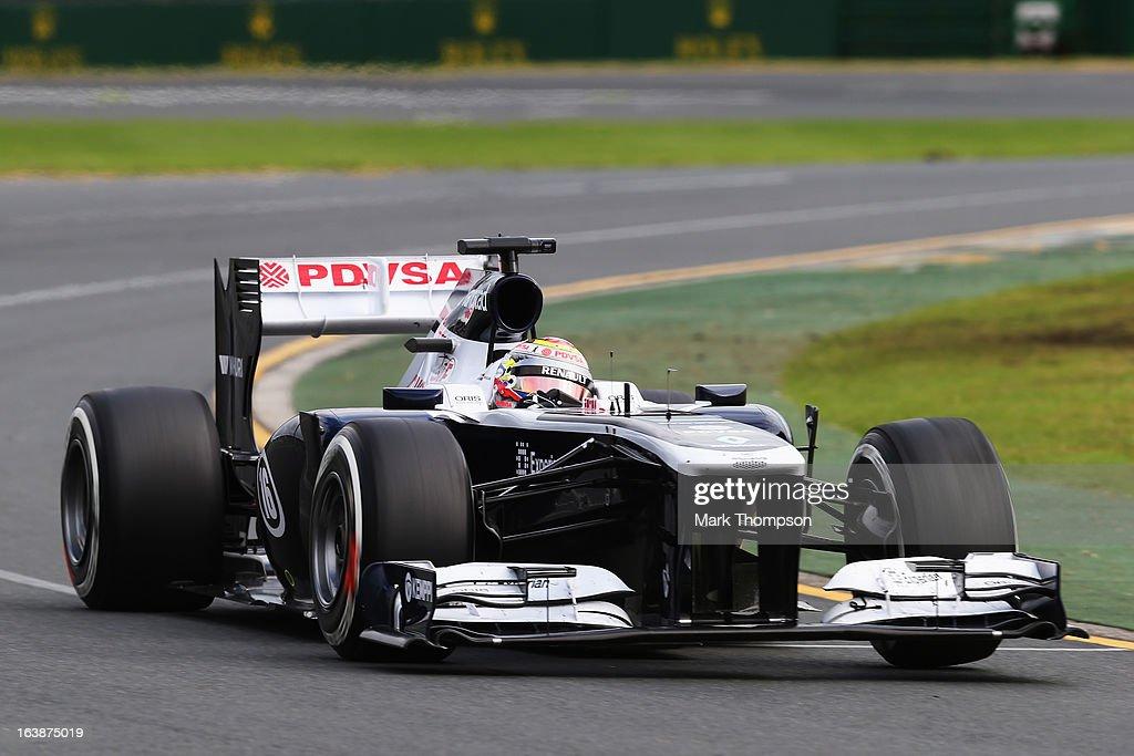 Pastor Maldonado of Venezuela and Williams drives during the Australian Formula One Grand Prix at the Albert Park Circuit on March 17, 2013 in Melbourne, Australia.