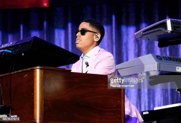 Pastor Matthew Whitaker performs onstage at the 35th Anniversary Mother's Day Weekend Gospelfest 2017 at Prudential Center on May 13 2017 in Newark...
