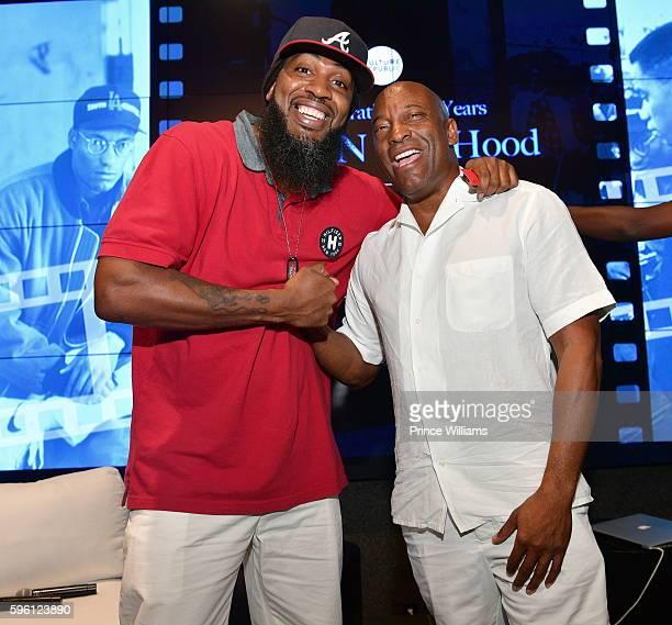 Pastor Troy and John Singleton attend Celebrating 25 Years Boyz N The Hood on August 23 2016 in Atlanta Georgia