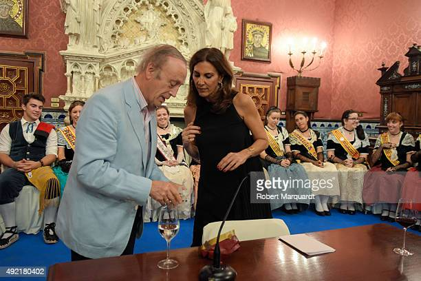 Pastora Vega attends the '54th Fiesta de la Vendimia' at the Palau Maricel on October 10 2015 in Sitges Spain